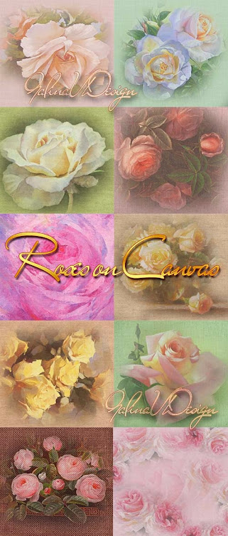 Roses On Canvas - Textures for Design