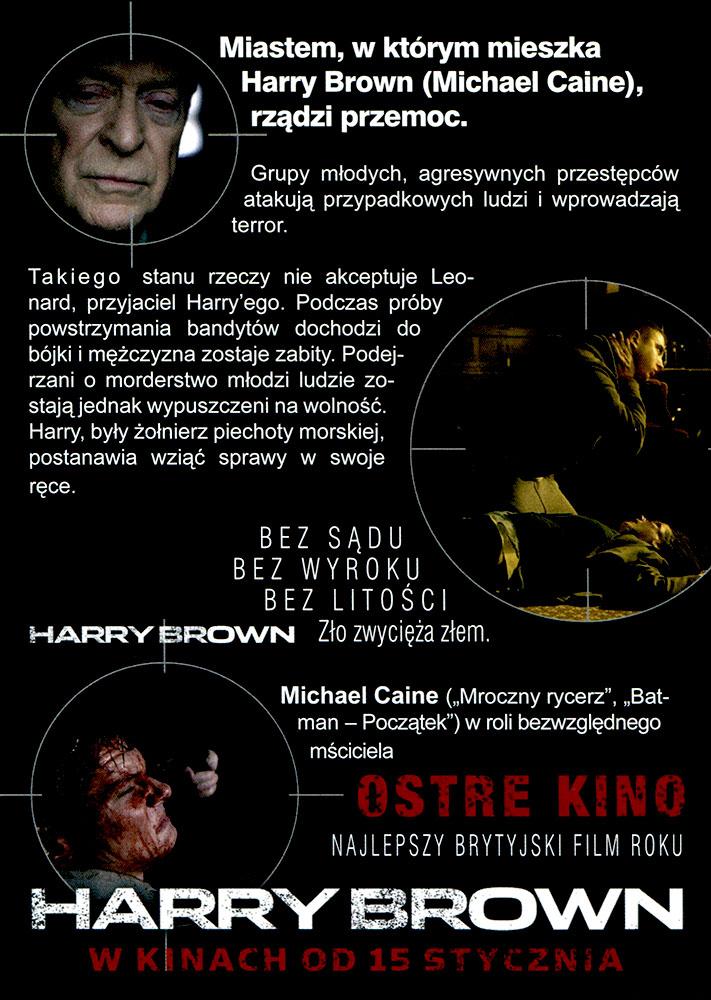 Ulotka filmu 'Harry Brown (tył)'