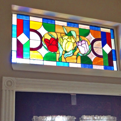 diy stained glass window