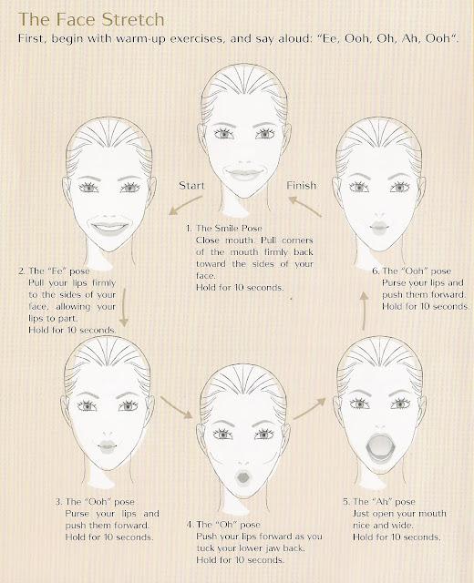 kilo off 瘦身 瘦面 face yoga stretch exercise shiseido bio-performance Corrective Serum