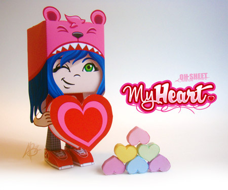 My Heart Paper Toy