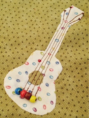 guitarra de patchwork