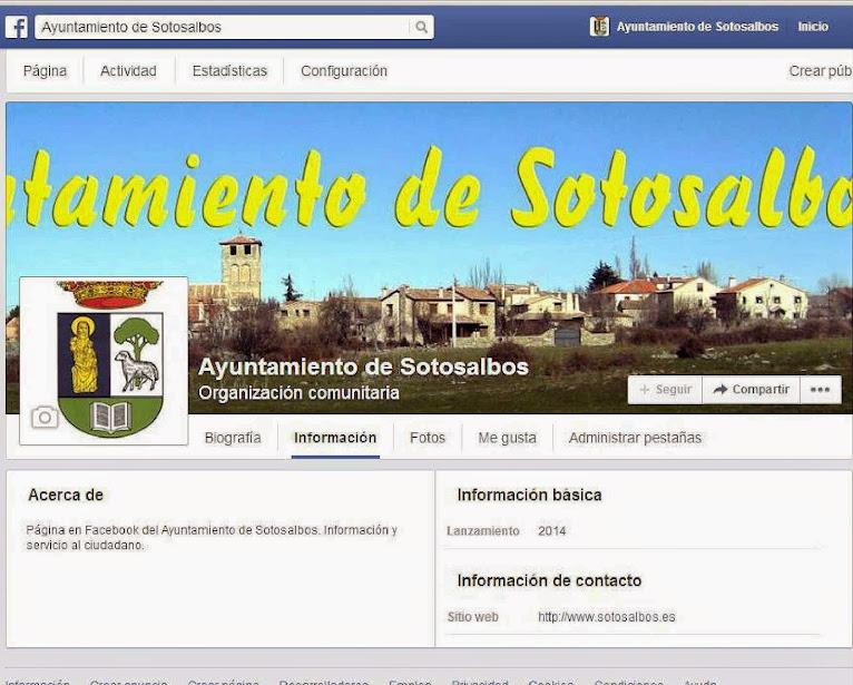 Ayuntamiento de Sotosalbos en Facebook