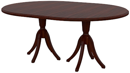 Tonkin Round Conference Table in Jefferson Walnut