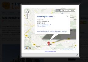 mapka z lokalizacją przy wpisie blogger