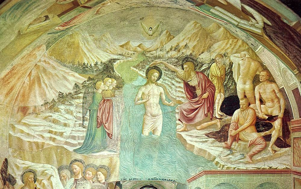 Masolino da Panicale - Baptism of Christ