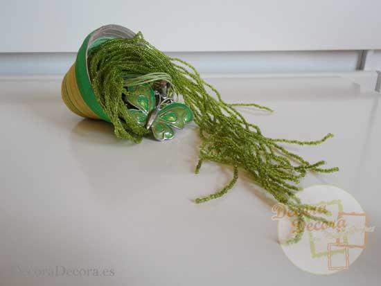 Cómo hacer una cesta de serpentina.