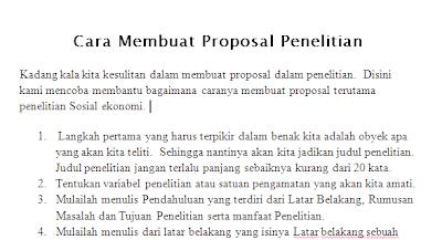 Cara Membuat Proposal Penelitian Ekonomi Sosial