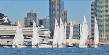 J/105s sailing on San Diego Harbor- Masters Regatta