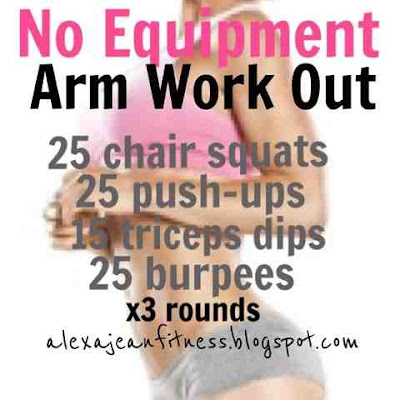 fitness  health no equipment arm work out