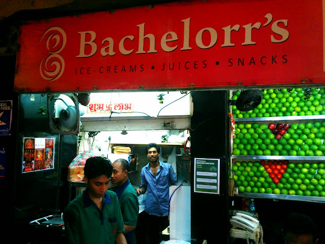Iconic Bachelorr's for juice and ice cream
