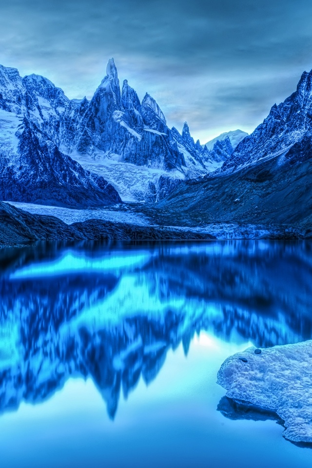 Beautiful Icy Mountain Pictures Wallpapers For iPhone 4