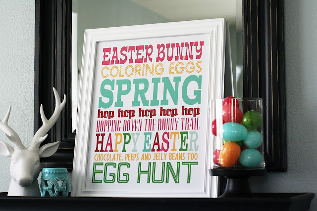 Eighteen 25 Spring Easter Subway Art Printable