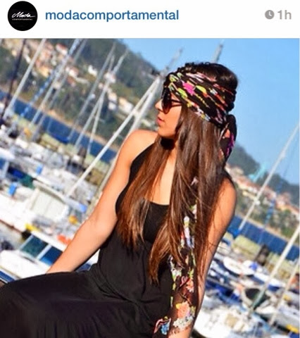 Model wearing scarf