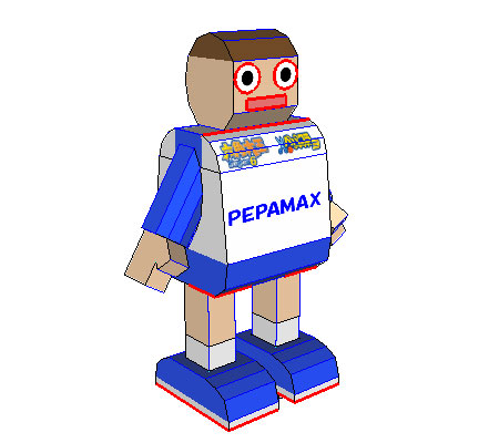 Pepamax bot Paper Toy