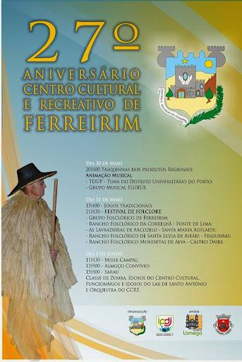 27º Aniversário do Centro Cultural e Recreativo de Ferreirim