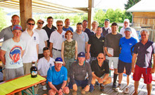 J/22 sailing teams at Brombachsee regatta