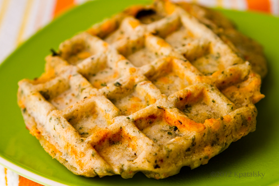 Herbed Savory Waffles are studded with cozy bits of Daiya cheese ...