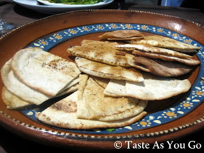 Fresh Pita at Los Tamarindos in Los Cabos, Mexico - Photo by Taste As You Go
