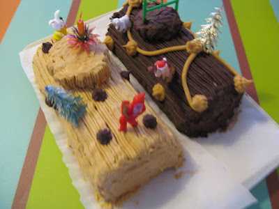 La véritable bûche de Noël - recette indexée dans la rubrique Desserts