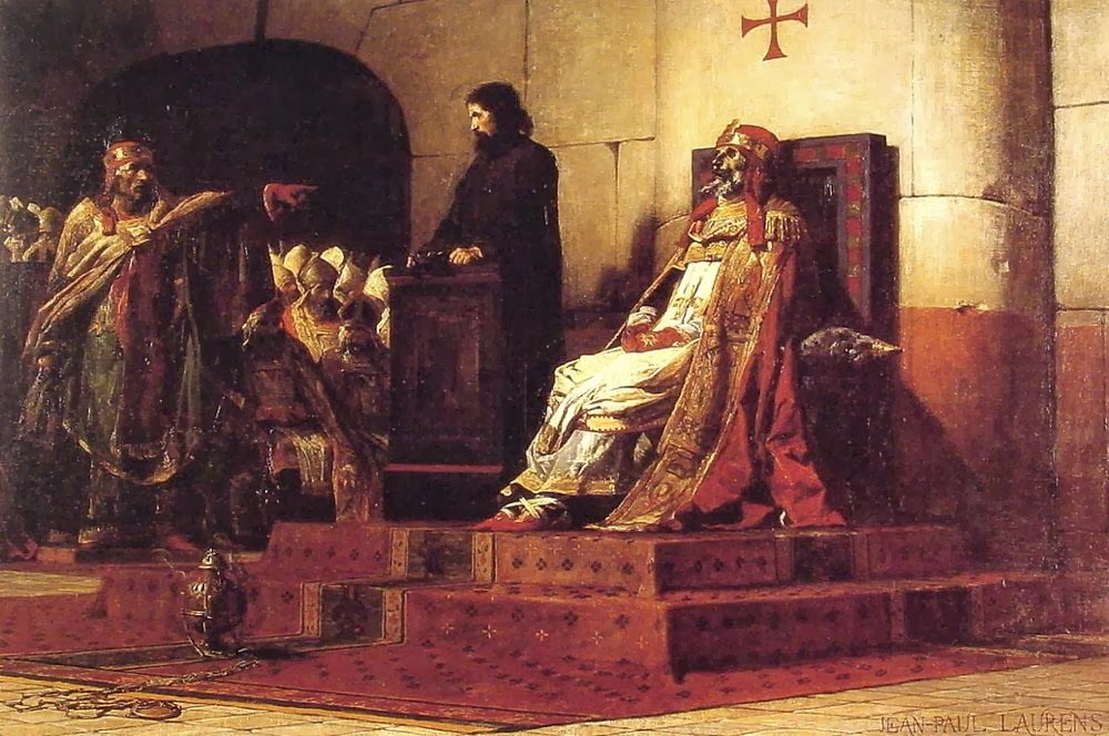 Jean-Paul Laurens - Pope Formosus and Stephen VII