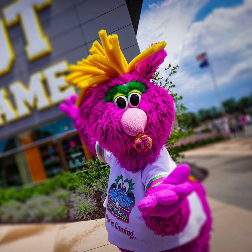 Mascot outside Mascot Hall of Fame