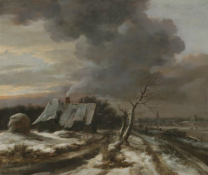 Jacob van Ruisdael - A Winter Landscape with a View of the River Amstel and Amsterdam in the Distance