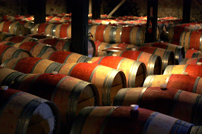 Wine Barrels at Hess Collection Winery in Napa Valley