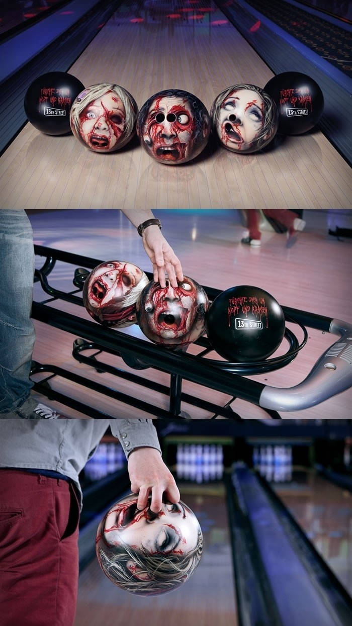 Scary Head Bowling Balls