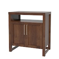 Sumatra Nightstand with Doors