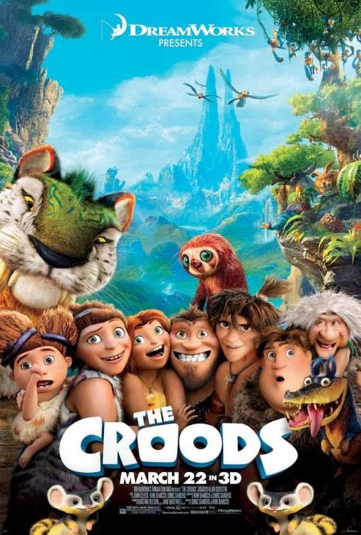 Poster Of The Croods (2013) Full Movie Hindi Dubbed Free Download Watch Online At Alldownloads4u.Com