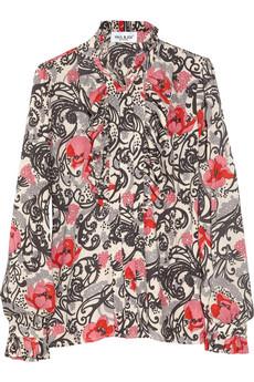 Paul & Joe Illumine Floral Print Twill Blouse
