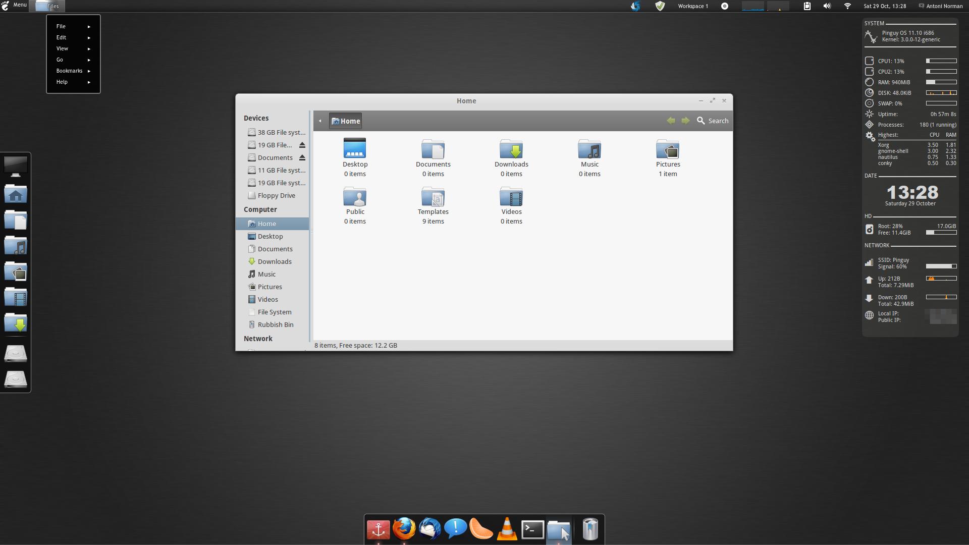 Pinguy OS 11 10 GNOME Shell Edition Screenshots ~ Web