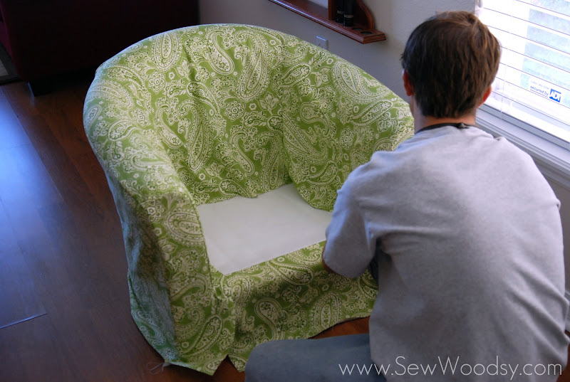 Ordinary Barrel Chair Cover #16 - Recovering The Ikea Tullsta Chair