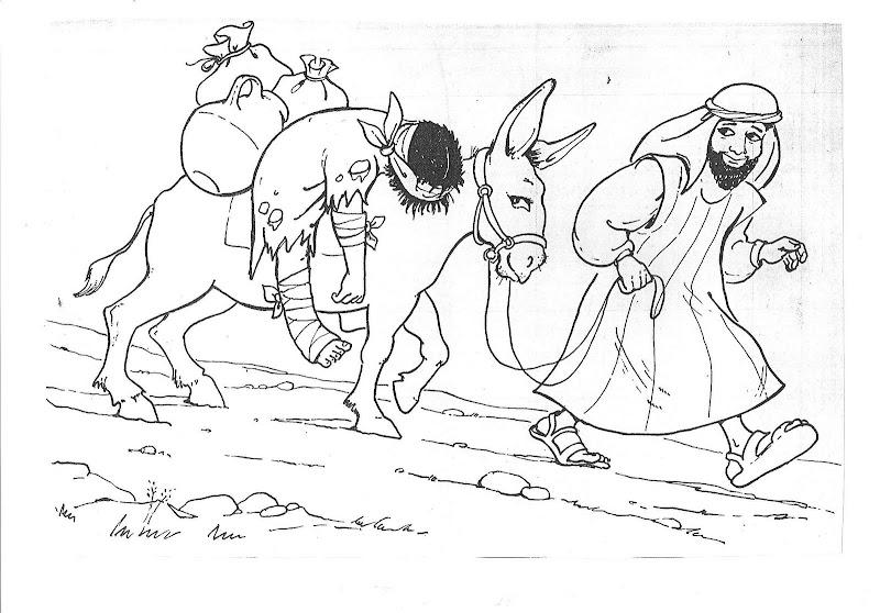 為孩子們的著色頁 Good Samaritan Coloring Printables Pages Samaritan Coloring Pages