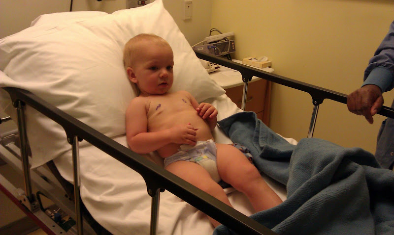 Elijah is ready to roll to surgery