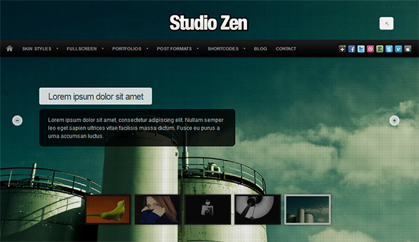 Studio Zen WordPress Fullscreen Portfolio Theme