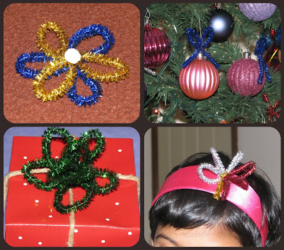 Gift bows, Ornament, Gift toppers Pipe cleaners