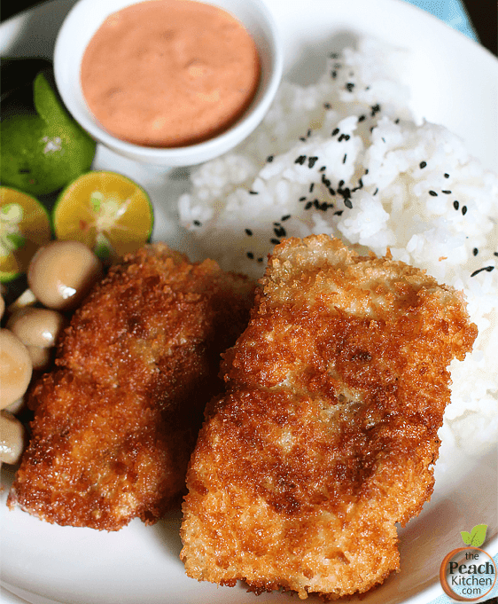 Breaded Fish Fillet with Sriracha Mayo