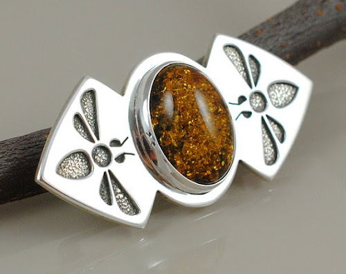 Honeybee Brooch by Silverspot Metalworks