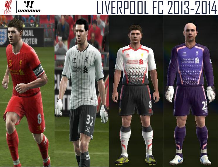 Liverpool Kitset 2013-14 - PES 2013