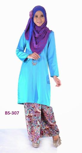Baju Kurung Mini Baju Kurung Malaysia biru turqoise online murah 2014