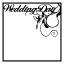 Wedding Day Scrapbooking Die Cut Overlay