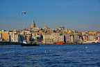 Galata Tower seen across the Golden Horn