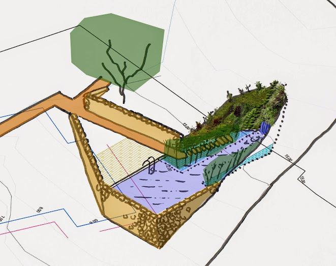 Evolución del diseño de una piscina con jardín vertical