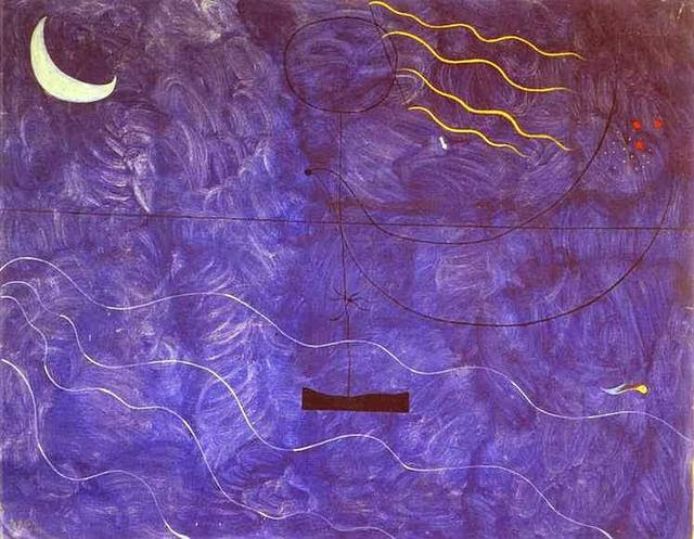 Joan Miro.Bathing Woman. 1925. Oil on cnvas. 73 x 92 cm. Musée National d'Art Moderne, Centre Georges Pompidou, Paris.
