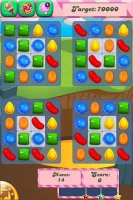 清除所有果凍 candy crush saga Level 33