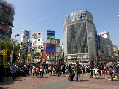 渋谷Qフロント前の交差点
