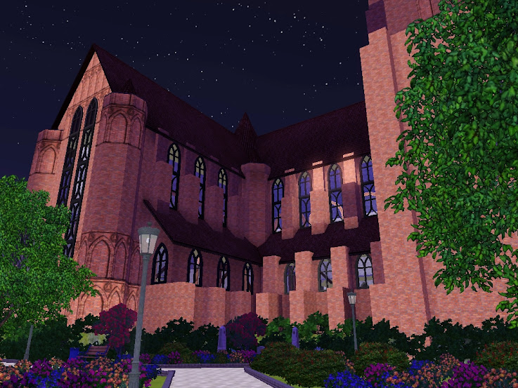 catedral,sims3,temple,gotica
