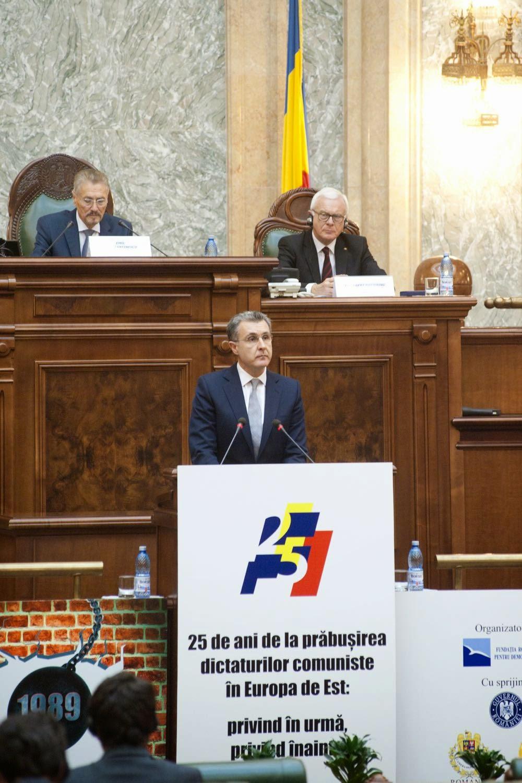 Principesa Margareta și Principele Radu au participat, la Senatul României, la Conferinţa Internaţională 25 de ani de la căderea comunismului în Europa Centrală şi de Est